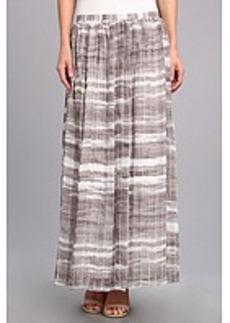 Calvin Klein Print Pintuck Maxi Skirt
