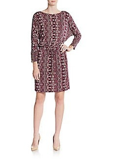 Calvin Klein Printed Blouson Dress
