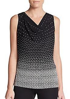 Calvin Klein Printed Cowlneck Top