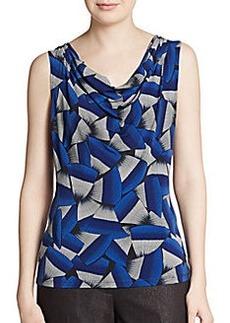 Calvin Klein Printed Drape-Neck Camisole