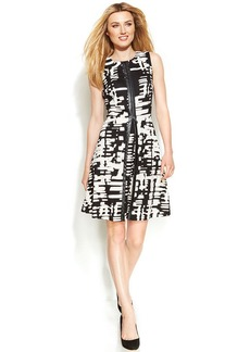 Calvin Klein Printed Fit & Flare Dress