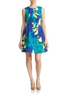 CALVIN KLEIN Printed Fit-and-Flare Dress