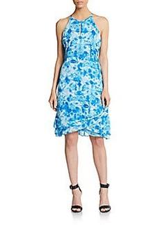Calvin Klein Printed Keyhole Dress