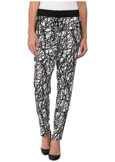 Calvin Klein Printed Pants w/ Black Trim