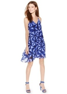 Calvin Klein Printed Racerback A-Line Dress