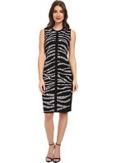 Calvin Klein Printed Rayon Sweater Dress