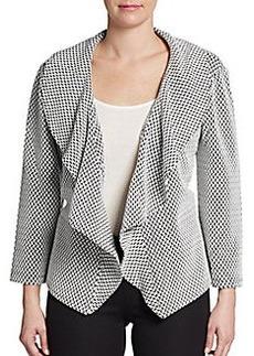 Calvin Klein Printed Ruffle-Collar Jacket