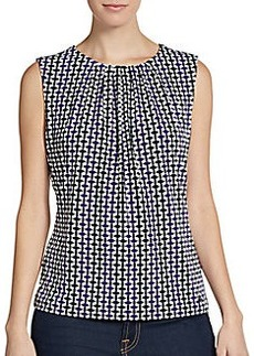 Calvin Klein Printed Stretch-Jersey Top