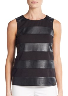 Calvin Klein PU-Stripe Top