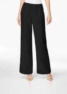 Calvin Klein Pull-On Wide-Leg Linen Pants