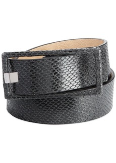 Calvin Klein Python Embossed Pant Belt
