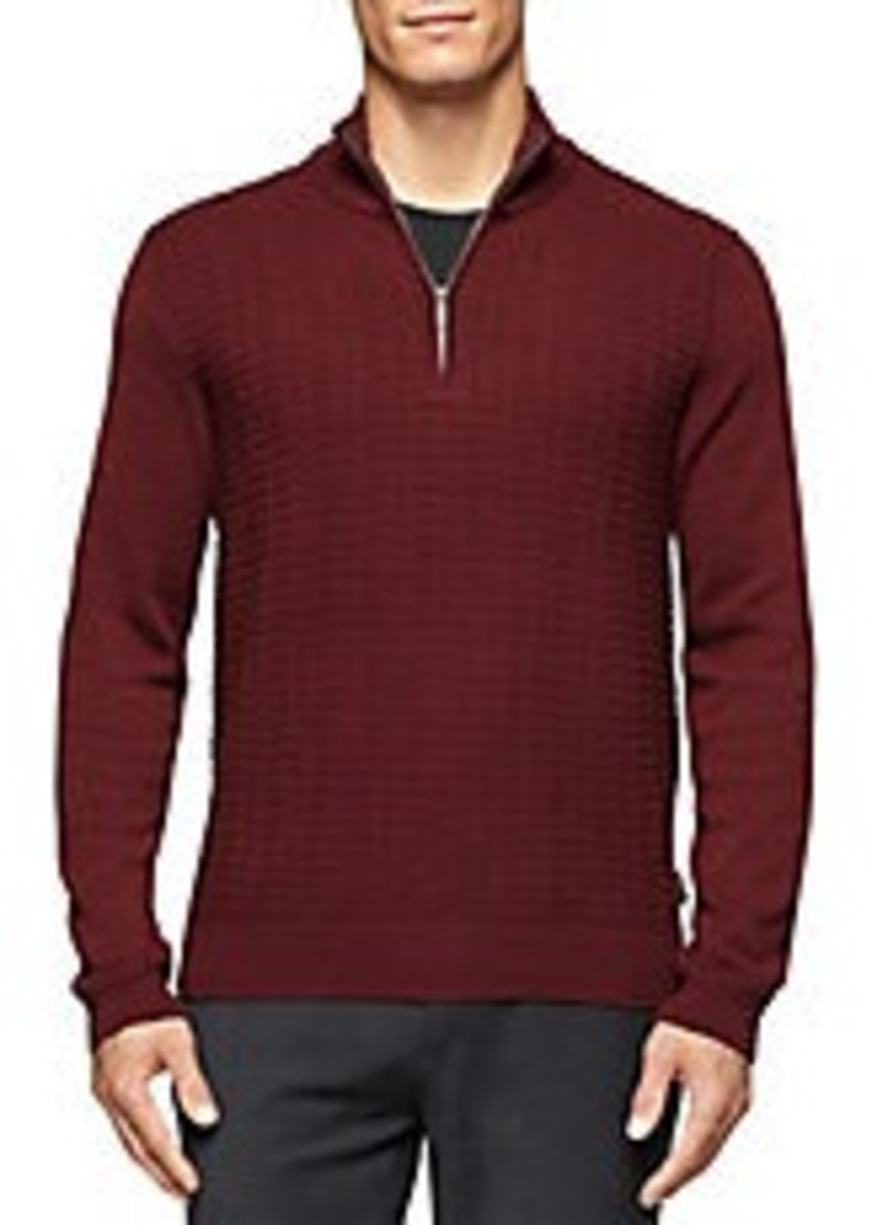 calvin klein calvin klein quarter zip knit pullover sweaters shop it to me. Black Bedroom Furniture Sets. Home Design Ideas