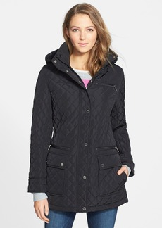 Calvin Klein Quilted Jacket with Removable Hood (Online Only)