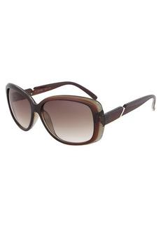 Calvin Klein R667S 204 Brown Square Sunglasses Size 58-15-135