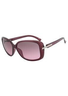 Calvin Klein R673S 505 Purple Translucent Square Sunglasses Size 58-14-135