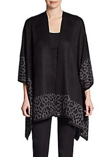 Calvin Klein Reversible Leopard Shawl