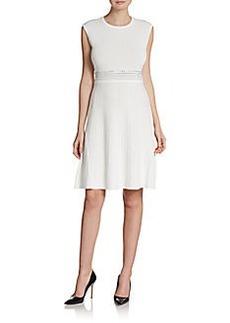 Calvin Klein Rhinestone Detailed A-Line Dress