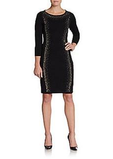 Calvin Klein Rhinestone Detailed Jersey-Knit Dress