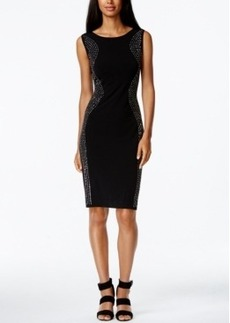 Calvin Klein Rhinestone-Trim Sheath Dress