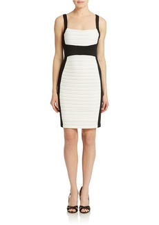 CALVIN KLEIN Ribbed Colorblock Sheath Dress