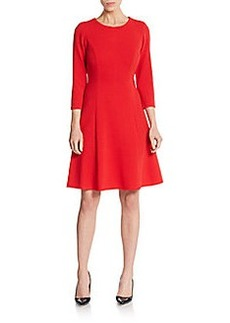 Calvin Klein Ribbed Fit-And-Flare Dress