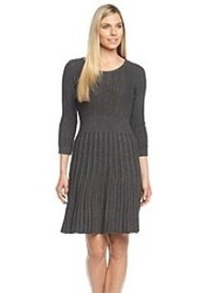 Calvin Klein Ribbed Fit And Flare Sweater Dress