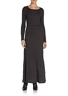 Calvin Klein Ribbed Knit Maxi Dress