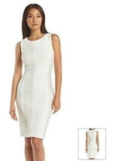 Calvin Klein Ribbed Ponte Dress