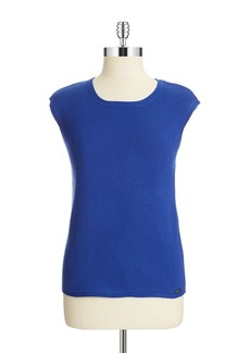 CALVIN KLEIN Ribbed Shell Blouse