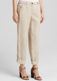 Calvin Klein Roll Cuff Linen Pants