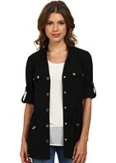 Calvin Klein Roll Sleeve Camp Jacket