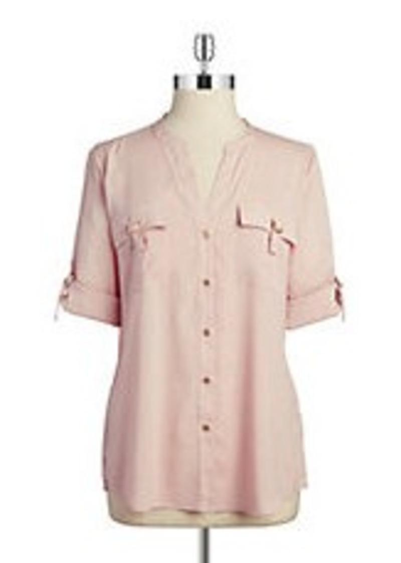 Calvin Klein Calvin Klein Roll Sleeve Top Casual Shirts