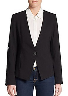 Calvin Klein Roll-Tab Sleeve Blazer