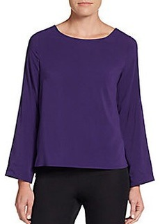 Calvin Klein Roll-Tab Sleeve Jersey Top