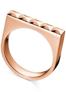Calvin Klein Rose Gold-Tone Pvd-Finished Stainless Steel Stud Ring
