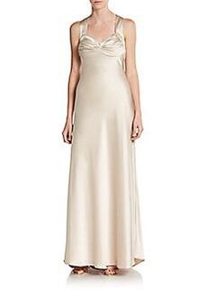 Calvin Klein Ruched Satin Gown