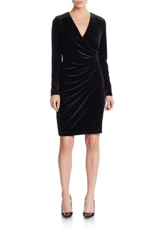 Calvin Klein Ruched Velvet Dress
