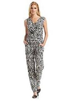 Calvin Klein Ruched Waist Print Jumpsuit