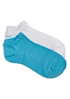 Calvin Klein Ruffle Cuff Coolmax® Liner Socks (2-Pack)