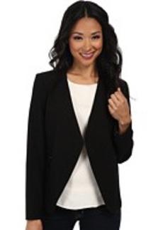 Calvin Klein Ruffle Front Lux Jacket