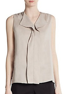 Calvin Klein Ruffle-Front Sleeveless Top