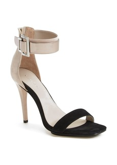 Calvin Klein 'Sable' Leather & Suede Ankle Strap Sandal (Women)