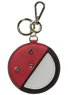 Calvin Klein Saffiano Leather Key Fob Coin Purse, Red Combo, One Size