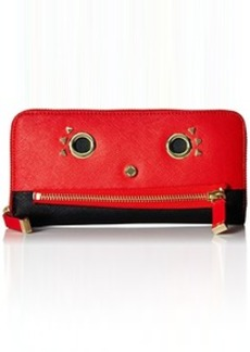 Calvin Klein Saffiano Novelty Wallet, Vivid Red Combo, One Size