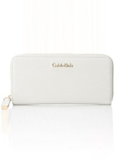 Calvin Klein Saffiano Wallet, Cherub White, One Size