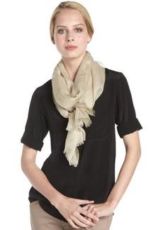 Calvin Klein sandy beige crepe wrap scarf