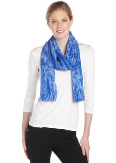 Calvin Klein sapphire and white distressed printed scarf
