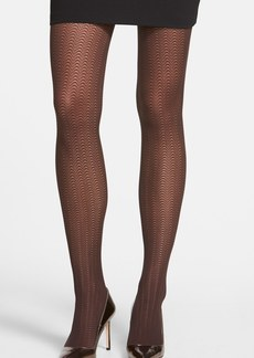 Calvin Klein Scallop Semi Sheer Control Top Tights