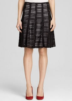 Calvin Klein Scuba Grid Cutout Skirt - Bloomingdale's Exclusive