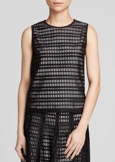 Calvin Klein Scuba Grid Cutout Top - Bloomingdale's Exclusive